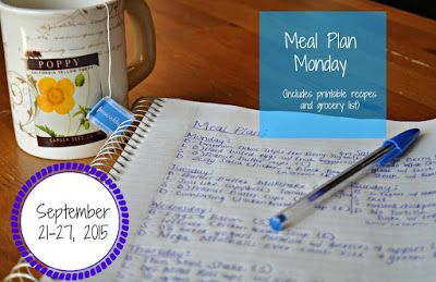 Darcie's Dishes: Meal Plan Monday: 9/21-9/27/15 // A 7 day meal plan that includes all meals, snacks and drinks and contains no special ingredients. All meals are Trim Healthy Mama compliant and the meal plan comes with a FREE printable shopping list.