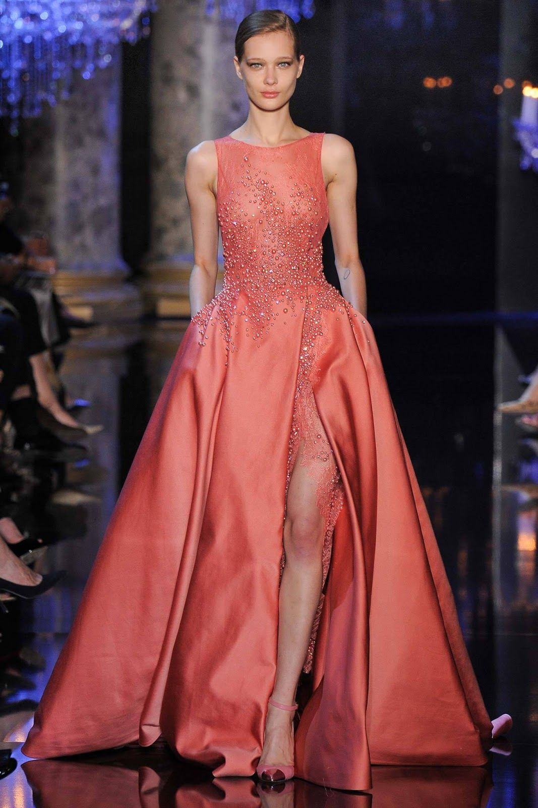 Elie Saab Haute Couture Fall-Winter 2014.15 Collection Paris, France ...