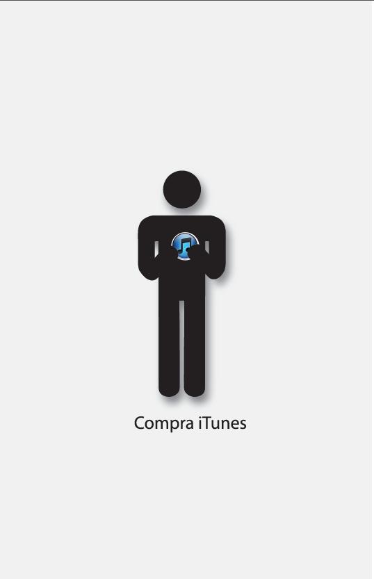 Propuesta de cartel para la empresa Apple que complementa una serie de carteles
