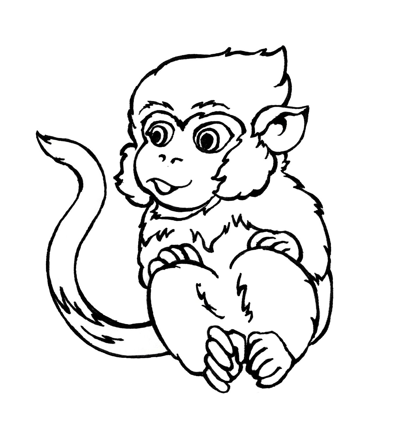 Cheeky Monkey FREE colouring sheet from Snowflake Books