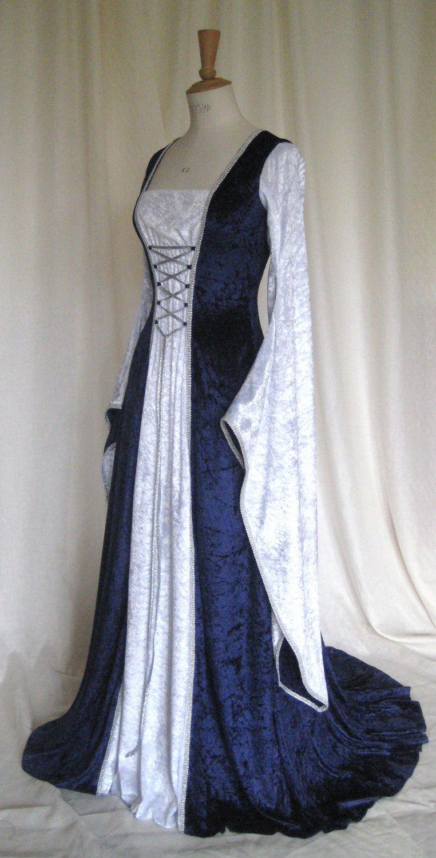 Erin A Meval Gothic Renaissance Larp Pagan Pre Raphaelite Custom Made Wedding Gown Gownrenaissance Clothingmeval
