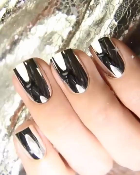 Metallic Chrome Mirror Effect Sexy Nail Art Polish