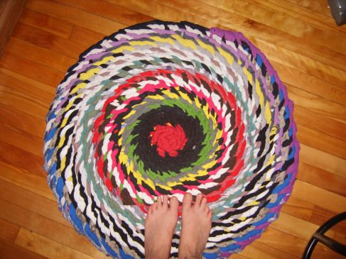 No Sew Braided Rug From Tee Shirts