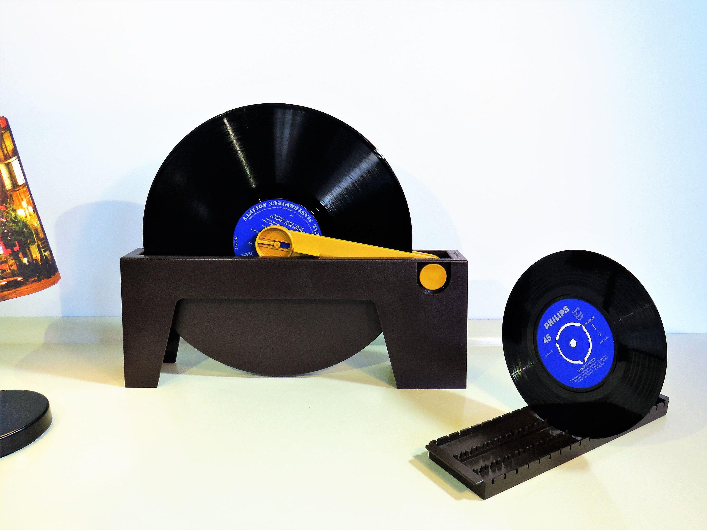 Vintage Record Cleaner Plattofix Wittner Lp Vinyls Discwasher Brown Plastic Color With Accessories Original Box Instruction Manual 70s
