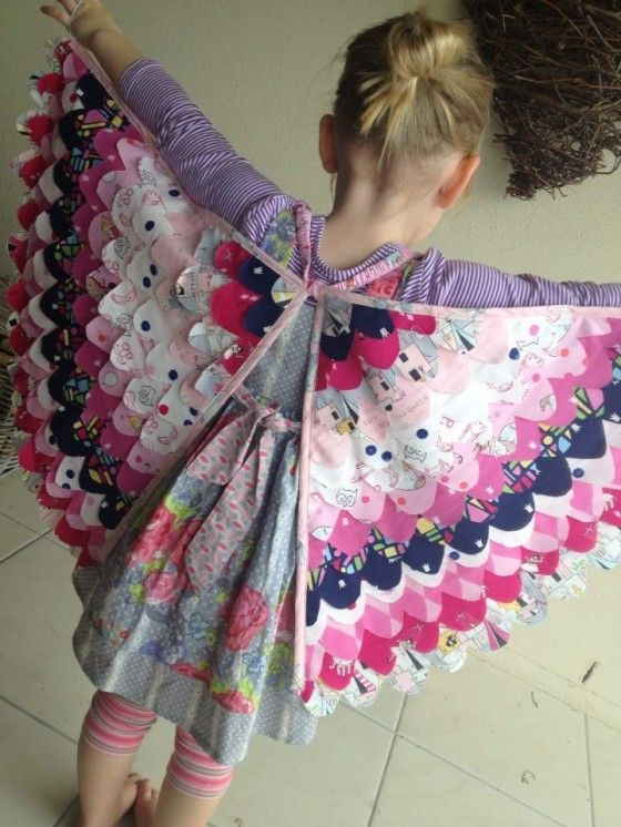 """Fabric """"Butterfly wings"""" (or maybe they are fairy wings). At any rate, no pattern that I could see, but SUPER cute!"""