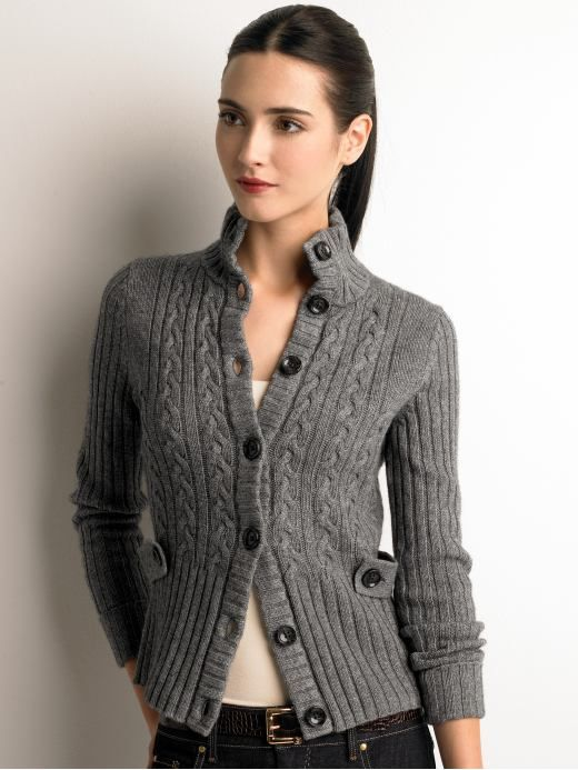 Women&39s Apparel: Cable-knit jacket: sweater coats sweaters