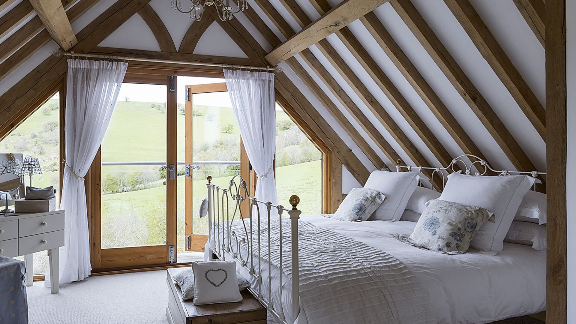 White Country Bedroom with Oak Beamed Ceiling | My Style ...