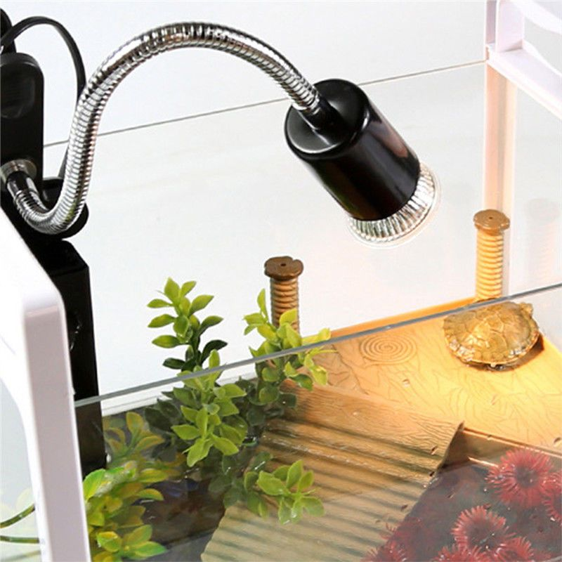 150w Flexible Reptile Lizard Turtle Basking Heat Light Lamp Holder Uv Bulb Clip Lamp Holder Lamp Light Lamp