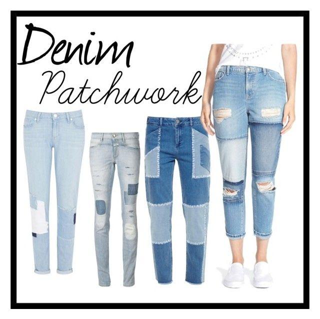 """Denim Patchwork"" by yulia-yuli-brichko on Polyvore featuring Paige Denim, Closed, House of Holland and SP Black"