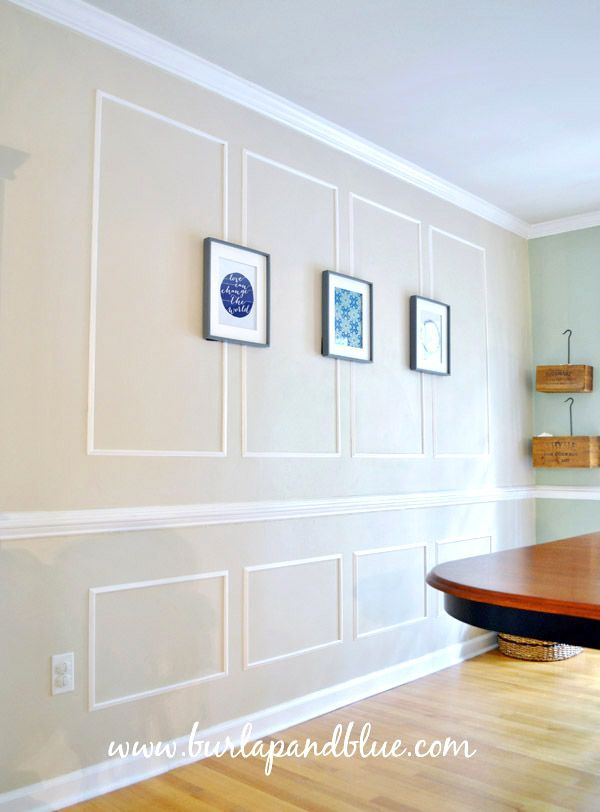 picture frame molding in the dining room | Picture rail, Moldings ...