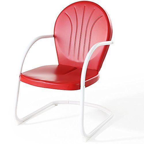 Crosley Furniture Griffith Metal Chair Red Crosley Https Smile Amazon Com Dp B0072vzbgi Ref Cm Sw Metal Chairs Metal Outdoor Furniture Metal Outdoor Chairs