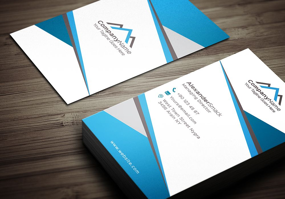 Real Estate Business Card Template by shahjhan on Creative Market ...