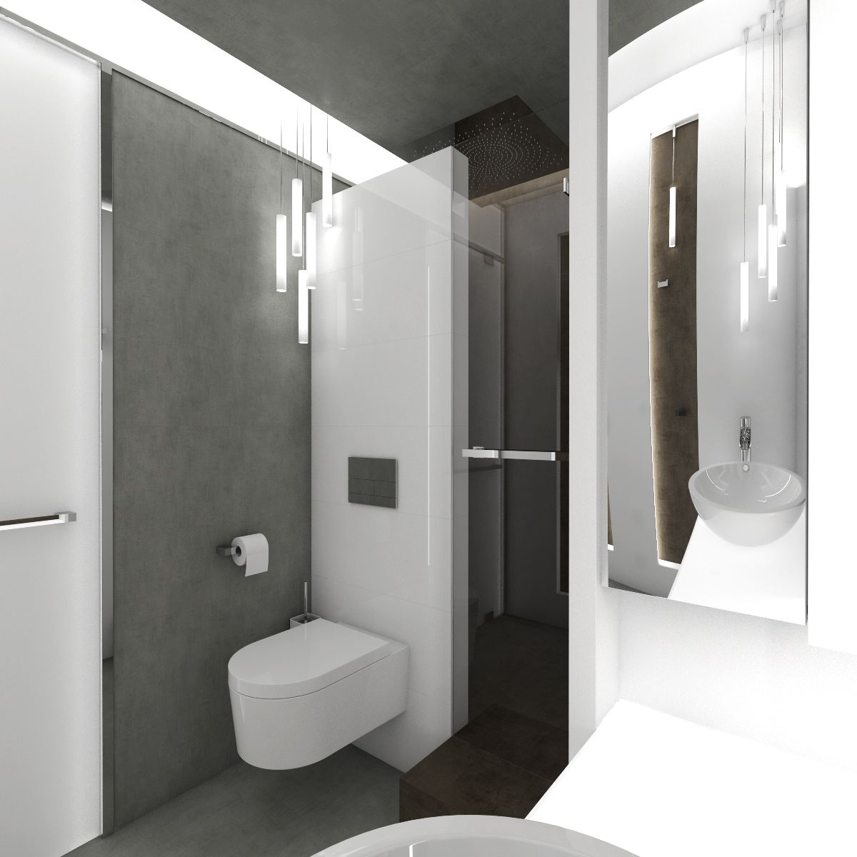 bathroom box light box bathroom design two parallel niches are both