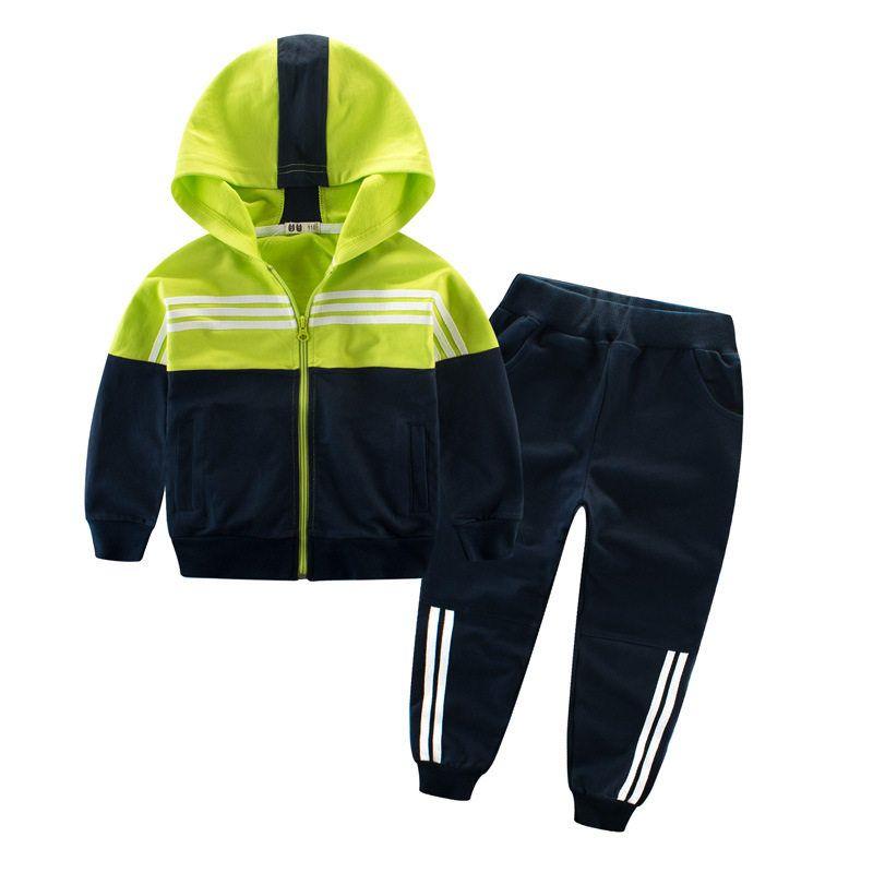 Ropa de niños traje deportivo para niños y niñas con capucha