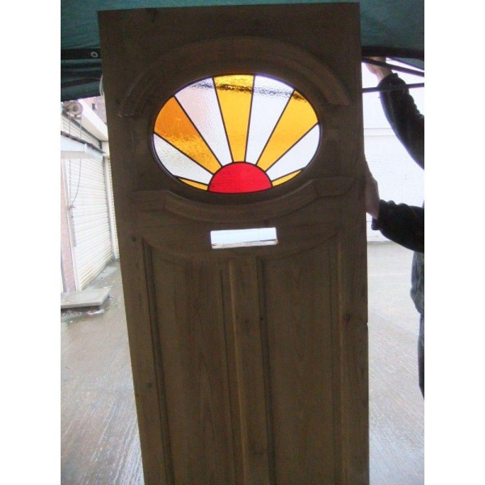 1930u0027s Edwardian Original Stained Glass Exterior Door - Sunburst Sunrise  sc 1 st  Pinterest & 1930u0027s Edwardian Original Stained Glass Exterior Door - Sunburst ...