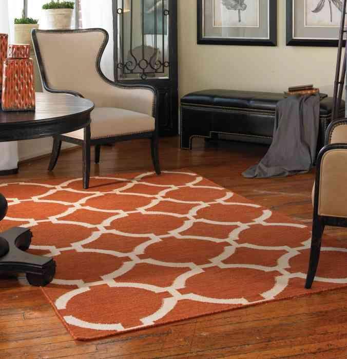 ... Burnt Orange Area Rug ... Part 42