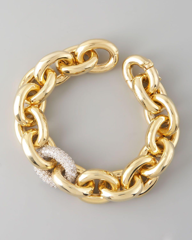 Pave Link Bracelet Gold Eddie Borgo