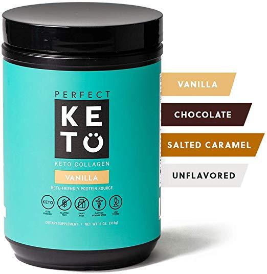 Amazon Com Perfect Keto Collagen Peptides Protein Powder With Mct Oil Grassfed Gf Multi Supplement Keto Protein Shakes Protein Shake Recipes Shake Recipes