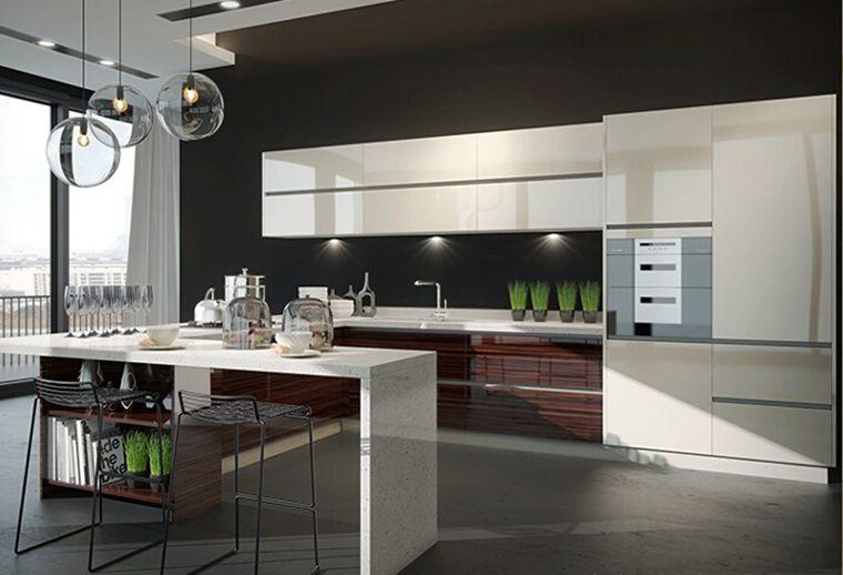 Aluminium Kitchen Cabinet Model Intergrated Design For Modern