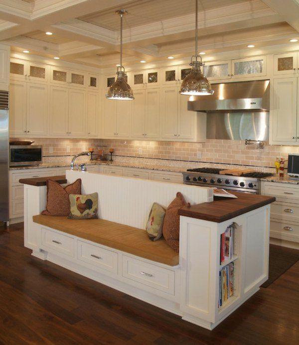 Sitzbank Für Küche kücheninsel gestalten holz sachlich sitzbank auflagen küche kücheninsel