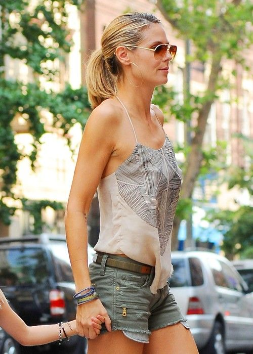cut offs + Pony tail :: aviators + little top