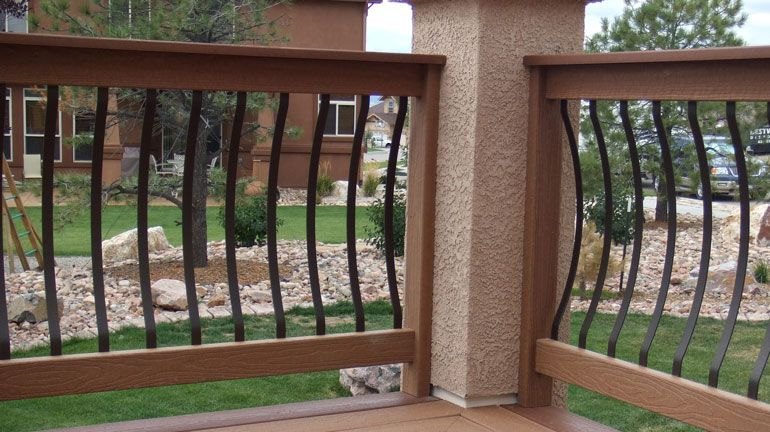 Best Fortress Black Bow Balusters Face Mounted On Two Wood 400 x 300