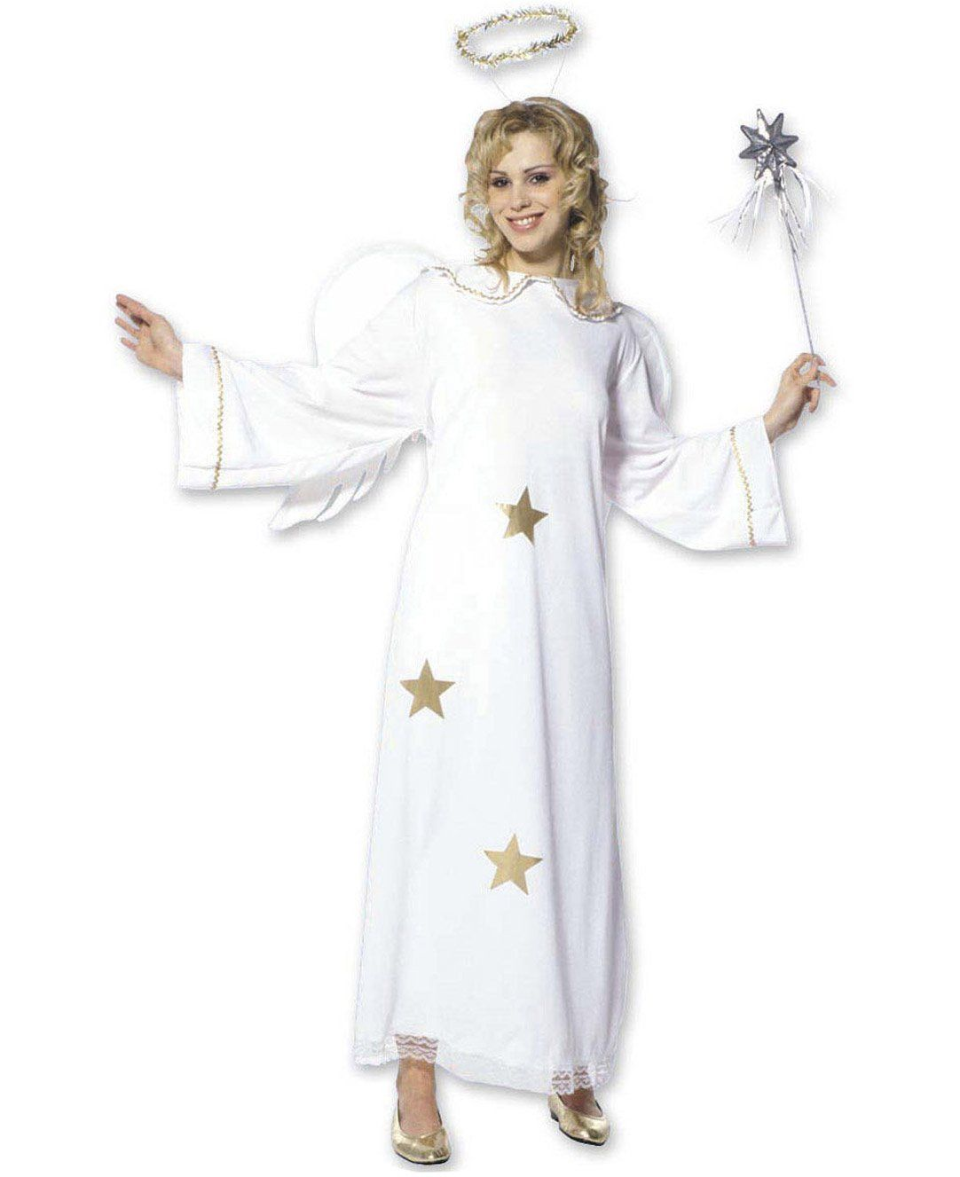 Disfraz De ángel Con Estrellas Mujer Este Disfraz De ángel Para Mujer Está Compuesto Por Un Vestido Disfraz De ángel Disfraz De Angelito Disfraz Angel Mujer