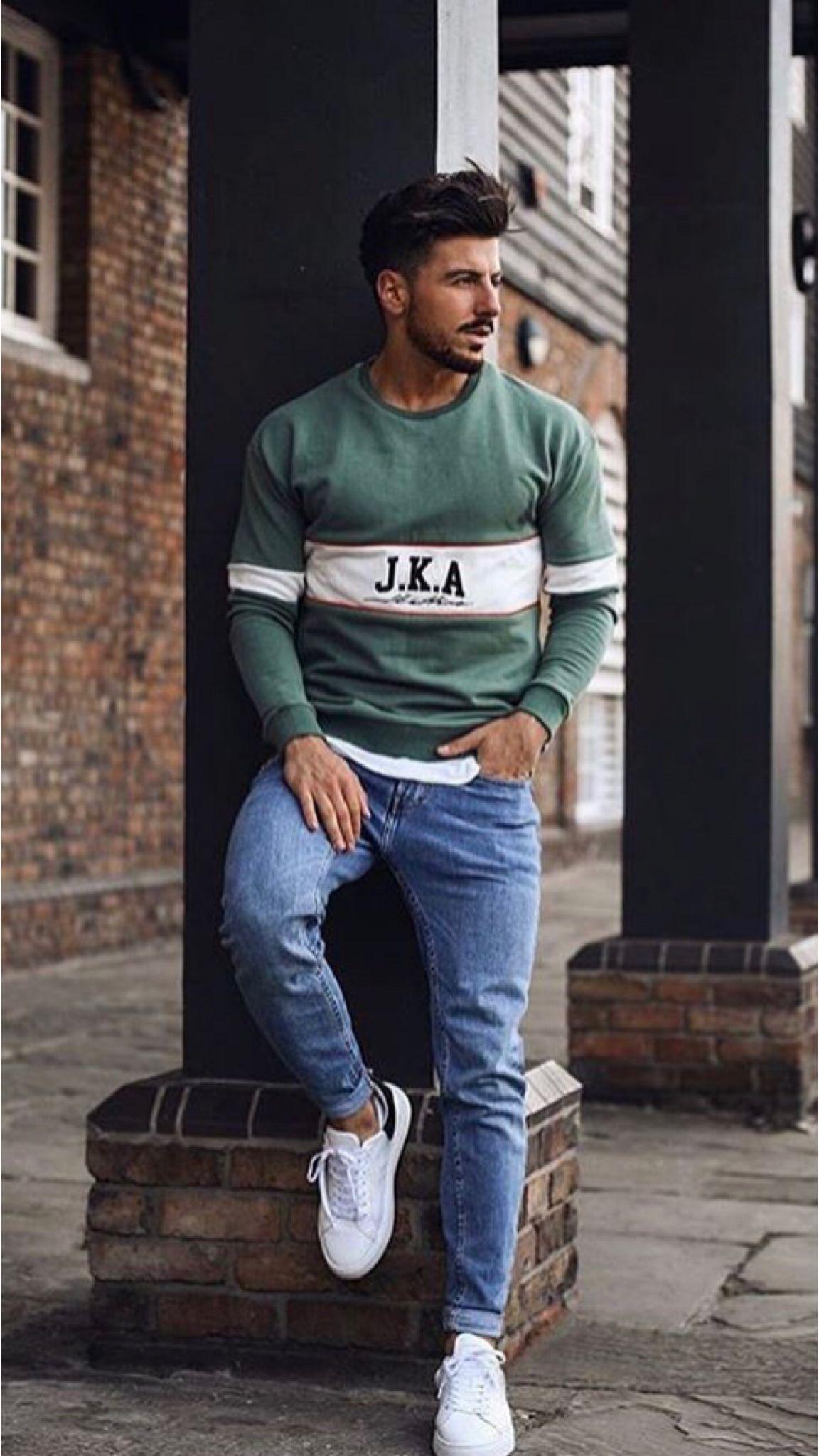 18 Cool ways to wear sweatshirts! | Men fashion casual outfits, Mens fashion  streetwear, Stylish mens outfits
