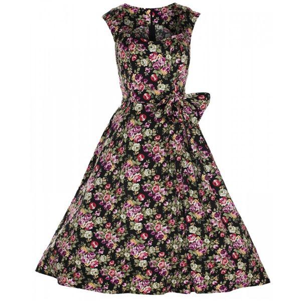 Black Sleeveless Pin Up Clothing Dress