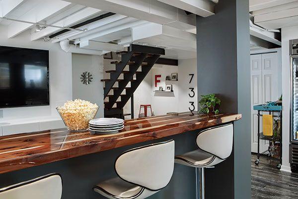 mid century modern guest suite and entertaining spot guest suite