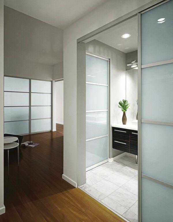 La porte coulissante pour la salle de bain Construction - porte d armoire coulissante