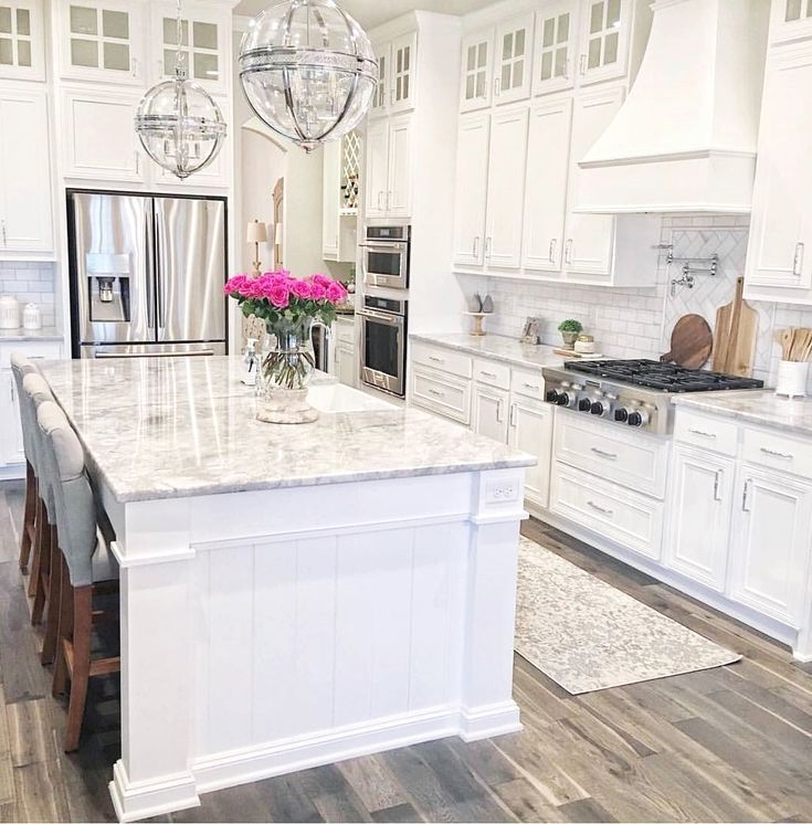 . White kitchen designs are among the most preferred ideas ...