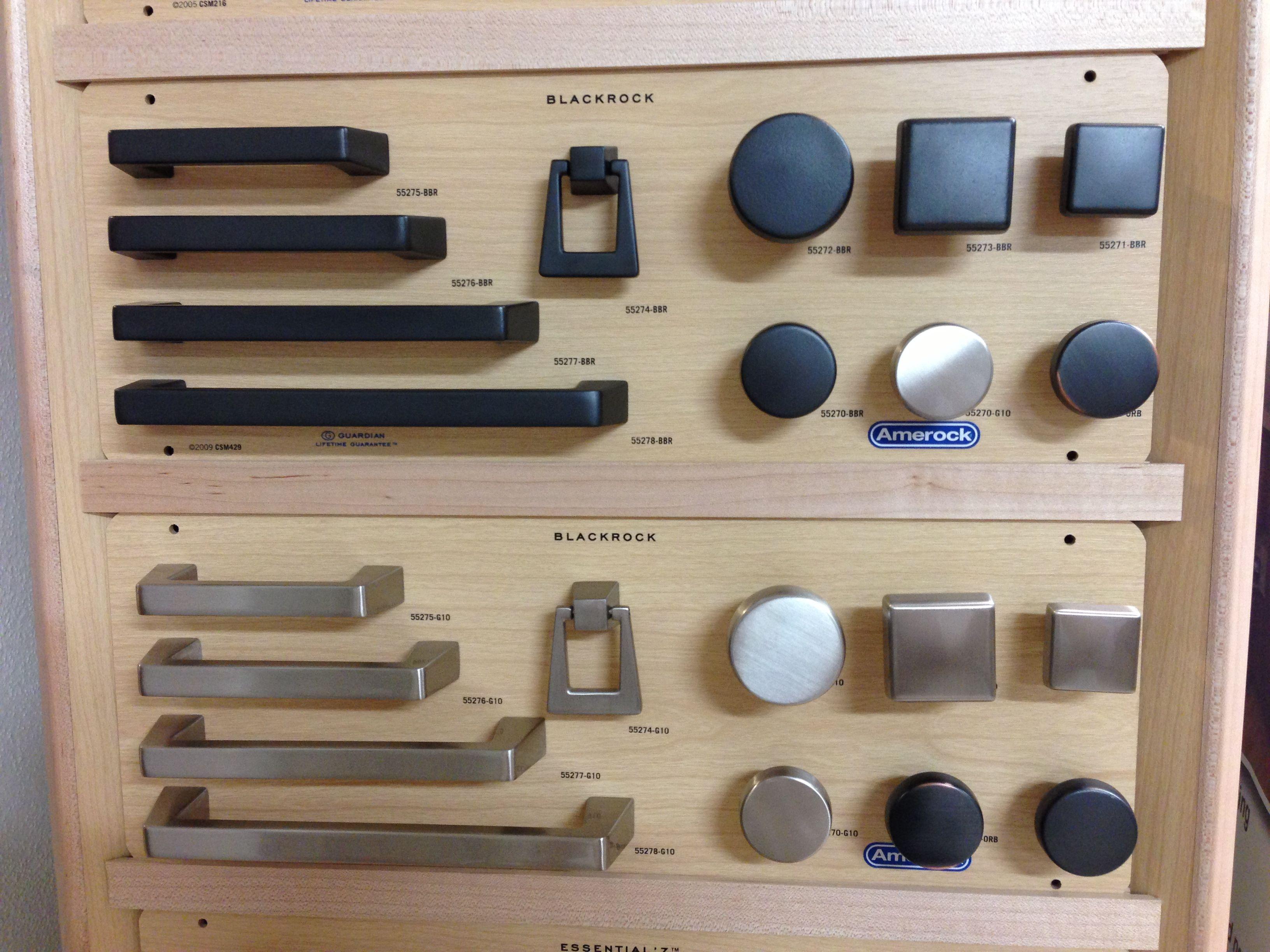"Amerock ""Blackrock"" design knobs and pulls"