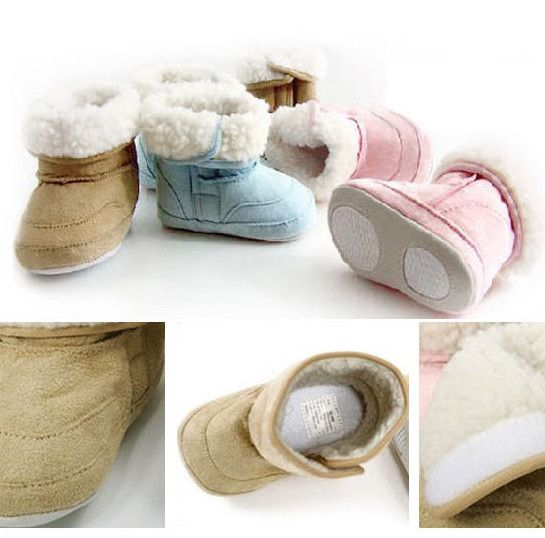 Super Cute Baby Faux Shearling Boots Available In 3