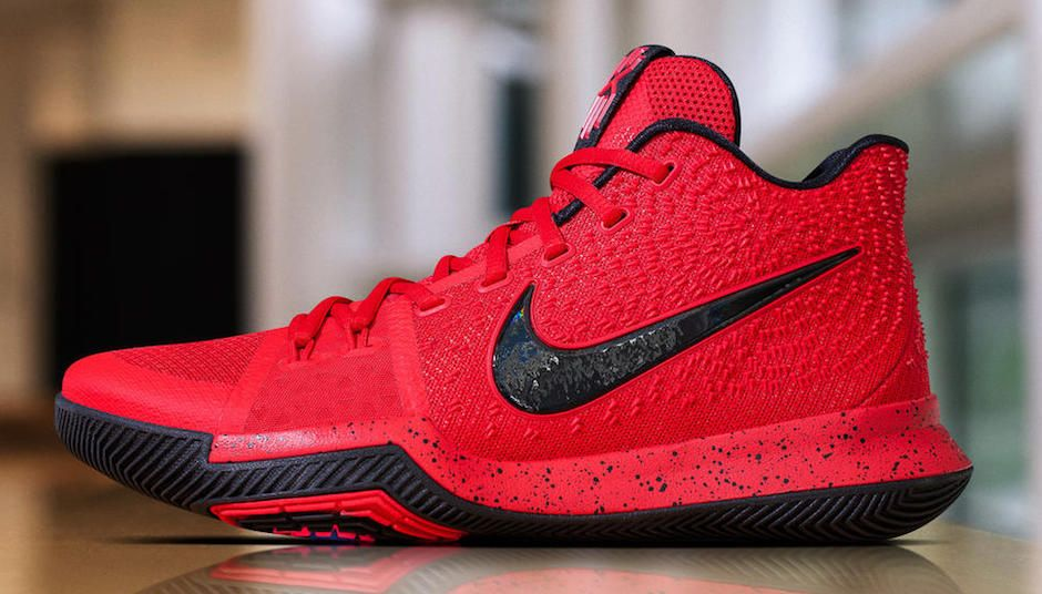 9b748efa715 Nike Kyrie 3 University Red Black 852395-600