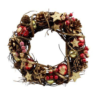 Wianek Swiateczny 34 Cm Bozonarodzeniowy Z Szyszkami I Jarzebina Swieczniki I Dekoracje Swiateczne W Atrakcyjnej Cenie W Skl Halloween Wreath Decor Wreaths