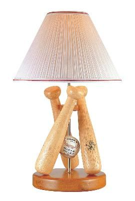 Baseball Bedroom Lamp Is An Easy Peasy DIY