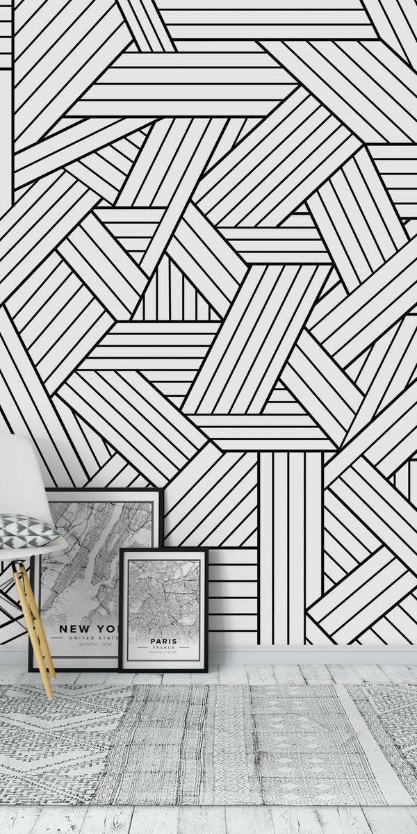 Infatuation Wallpaper In 2021 Tape Wall Art Geometric Wall Paint Wall Paint Designs
