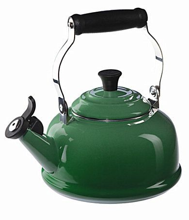 I love my black Curling Stone from Kitchenaid Kettle but I wouldn't cry if I owned a green kettle.