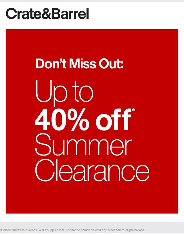 Crate Barrel Coupons Shopping Deals Summer Clearance Crate And Barrel Shopping Coupons