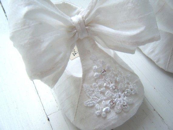 Snow White Silk Dupioni Swarovski Rhinestone Shoe For by BobkaBaby