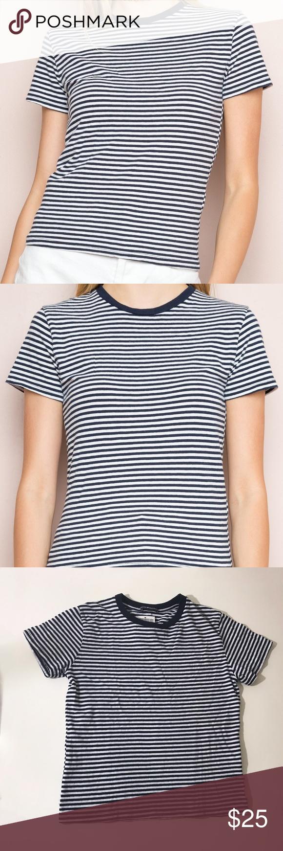 90c7c491b75 Brandy Melville striped tee 🎬 Brandy Melville Jamie top, size : os, soft  cotton