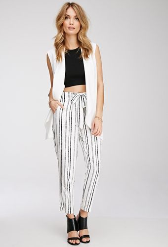 Abstract-Striped Woven Trousers from FOREVER 21 on Catalog Spree