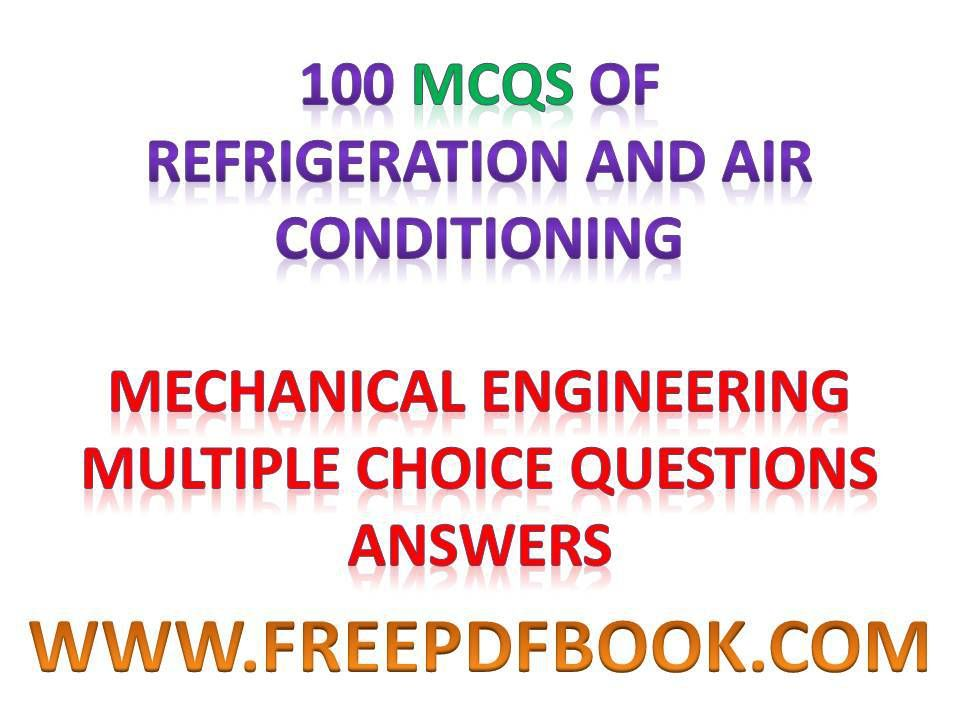 Refrigeration and Air Conditioning - Mechanical Engineering