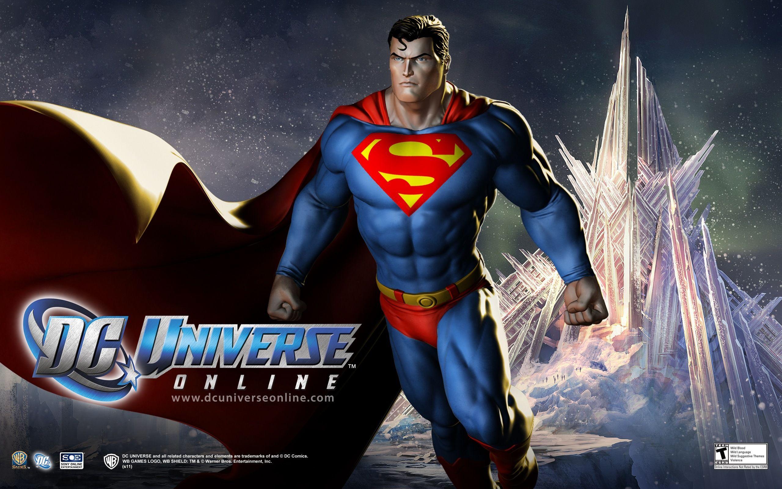 Dc Universe Online Wallpaper 2560x1600 Id 24108 Superman Superhero Superhero Comic
