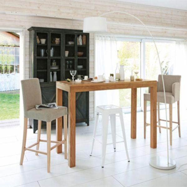 A Table Dans La Cuisine Avec Images Table Haute Cuisine