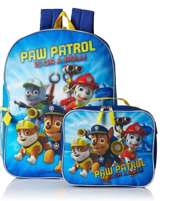 f05d74e12bb Boys Paw Patrol Dual Backpack With Detachable Lunch Bag  PawPatrol  Backpack