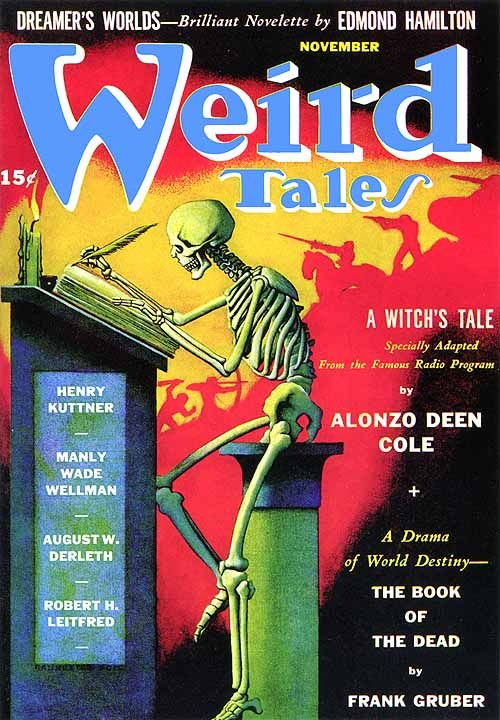 Weird Tales, Nov. 1941, cover by Hannes Bok