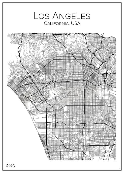 los angeles city map pdf