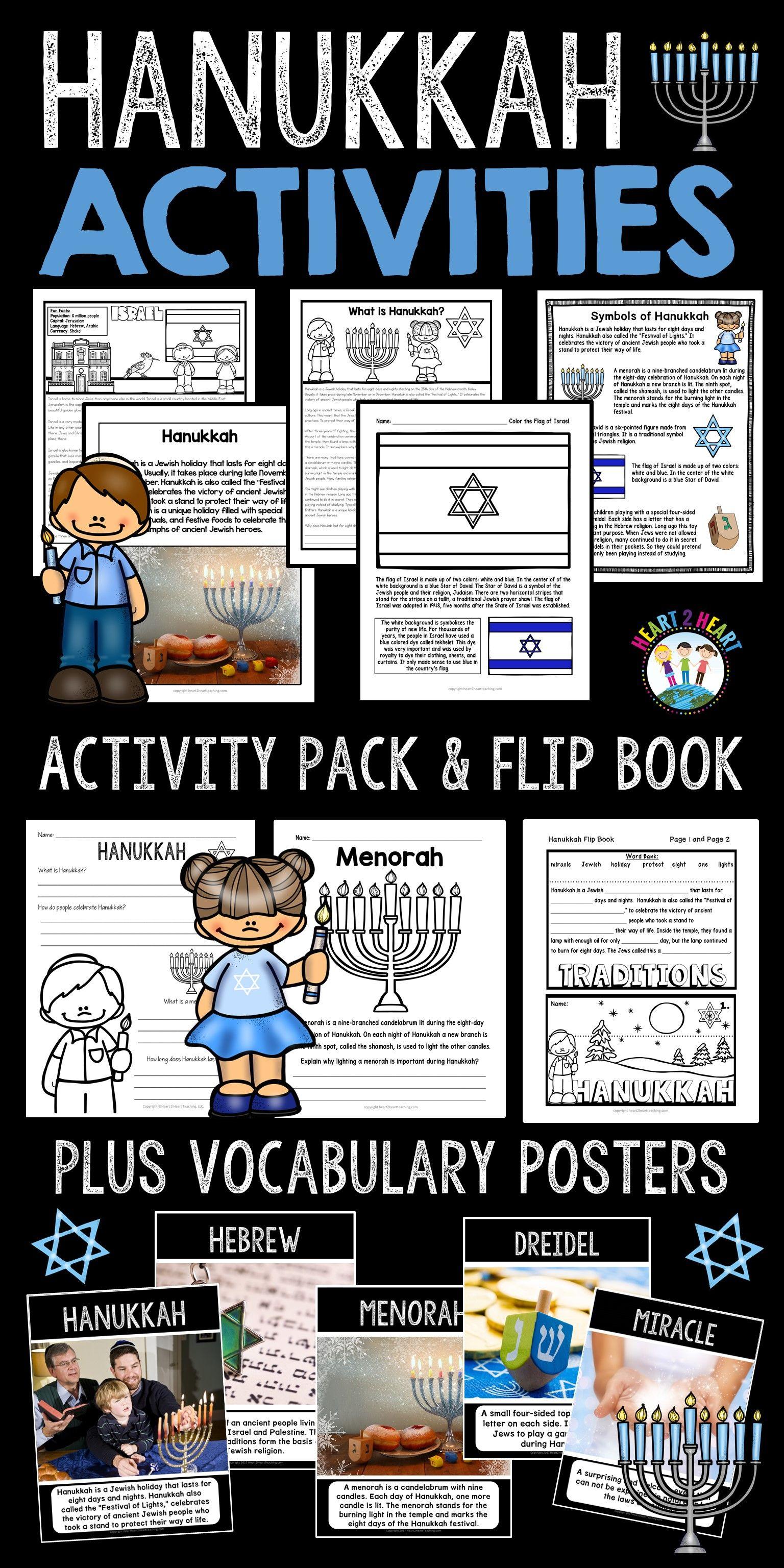 Hanukkah Activity Pack With Articles Activities Amp Flip Book